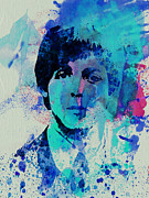 Celebrities Painting Framed Prints - Paul McCartney Framed Print by Irina  March