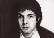Mccartney Drawings - Paul McCartney by Jeanne Beutler