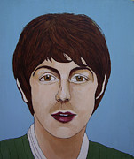 George Harrison Paintings - Paul McCartney by Linda Kassabian