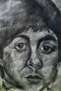 Celebrity Portraits Painting Originals - Paul McCartney by Melinda Saminski