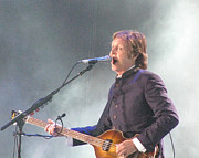 Beatle Photos - Paul McCartney on Stage at Citi Field by Melinda Saminski