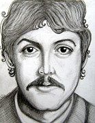 George Harrison Drawings - Paul McCartney by Patrice Torrillo