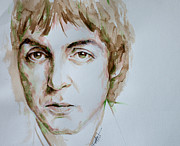 Beatles Painting Originals - Paul McCartney portrait by Laur Iduc