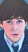 Singer  Paintings - Paul McCartney by Shirl Theis