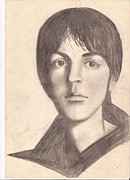 Mccartney Drawings - Paul McCartney by Yulia Andreeva