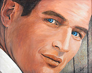 Paul Drawings - Paul Newman by BibZ Priori