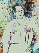 Film Watercolor Paintings - Paul Newman  by Irina  March