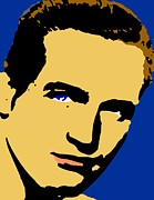 Paul Drawings - Paul Newman Pop by Paul Van Scott