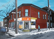 Pointe St. Charles Paintings - Paul Patate Pte St Charles by Reb Frost