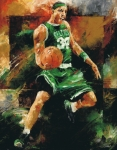 Basketball Painting Posters - Paul Pierce Poster by Christiaan Bekker