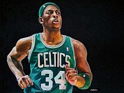 Michael Art Drawings Posters - Paul Pierce - The Truth Poster by Michael  Pattison