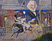 Longfellow Paintings - Paul Reveres Midnight Ride by Jan Mecklenburg