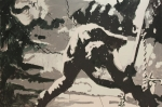Asheville Painting Prints - Paul Simonon Of The Clash Print by Dustin Spagnola