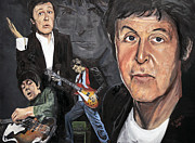 Fab 4 Posters - PaulMcCartney Poster by Roger  James