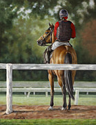 Thoroughbred Paintings - Pause by Linda Shantz