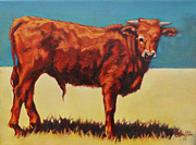 Cow Paintings - Paxton by Patricia A Griffin