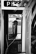 Handset Framed Prints - Pay Phone Miami South Beach Florida Usa Framed Print by Joe Fox