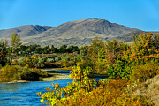 Treasure Valley Posters - Payette River And Squaw Butte Poster by Robert Bales