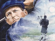 Sports Art Paintings - Payne Stewart by Christiaan Bekker