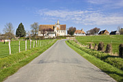 Auge Prints - Pays D Auge scene - Village of Putot en Auge in Calvados Normandy France Europe Print by Jon Boyes