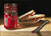 Sandwich Painting Framed Prints - PB and J 2 Framed Print by Timothy Jones