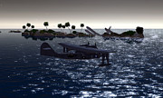 Pby Catalina Posters - PBY in the Water Poster by Mark Weller