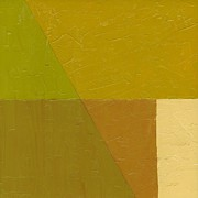 Abstracted Paintings - Pea Soup and Cream by Michelle Calkins