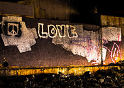 Light Art - Peace and Love Under The Bridge by Bob Orsillo