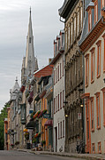 Quebec Houses Art - Peace and Quiet of Rue De Sainte Ursule by Juergen Roth