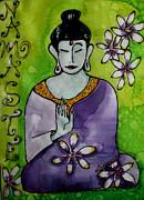Buddha Tapestries - Textiles Prints - Peace And Wisdom Print by Yvonne Feavearyear