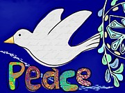 Den Mixed Media Prints - Peace Print by Barbara Drake