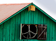 Wooden Building Posters - Peace Barn Poster by Bill Gallagher