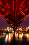 Calatrava Photos - Peace Bridge 2 by Bob Christopher