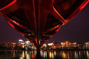 Calatrava Photos - Peace Bridge  by Bob Christopher