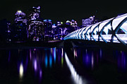 Peace Bridge Feeling The Blues Print by Bob Christopher