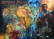 Justice Paintings - Peace for Africa by Amani Hanson