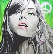 Faces Paintings - Peace II by Christian Chapman Art