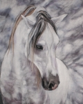 White Horse Pastels Originals - Peace by Jan Fontecchio Perley