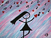Empathy Paintings - Peace Love and Music  by CariLynn Bromley