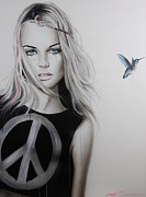 Eyes  Paintings - Peace Love and Psychadelia by Christian Chapman Art