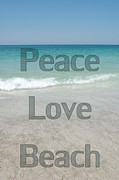 Panama City Beach Posters - Peace Love Beach Poster by May Photography