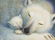 Polar Bears Paintings - Peace by Lynn Bywaters