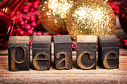 Christmas Greeting Prints - Peace message Print by Jane Rix
