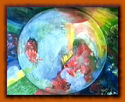 Dark Energy Painting Originals - Peace Midst Chaos by Constance Lemonde