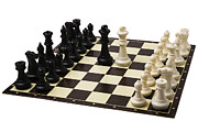 Chess Set Prints - Peace negotiations at the summit level - Featured 3 Print by Alexander Senin