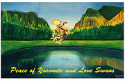 Yosemite Mixed Media Posters - Peace of Yosemite Poster by Afsaneh Faridi