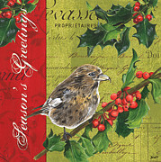 Seasonal Painting Prints - Peace on Earth 1 Print by Debbie DeWitt