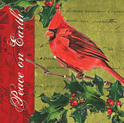 Seasonal Posters - Peace on Earth 2 Poster by Debbie DeWitt
