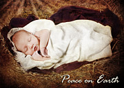 Nativity Scene Prints - Peace on Earth Print by Cindy Singleton