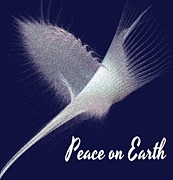 Gail Matthews Metal Prints - Peace on Earth Dove of Love Metal Print by Gail Matthews